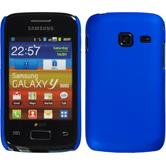 Hardcase for Samsung Galaxy Y Duos rubberized blue