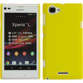 Hardcase for Sony Xperia L rubberized yellow