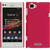 Hardcase Xperia L gummiert pink