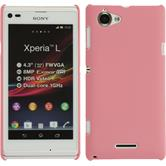 Hardcase for Sony Xperia L rubberized pink
