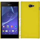 Hardcase for Sony Xperia M2 rubberized yellow