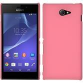 Hardcase für Sony Xperia M2 gummiert rosa