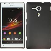 Hardcase for Sony Xperia SP rubberized black