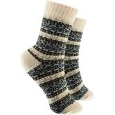 Bunte cosey Socken – verschiedene Designs - Winter Design beige (41 - 46)