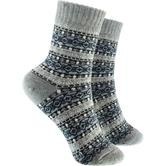 Bunte cosey Socken – verschiedene Designs - Winter Design grau (41 - 46)