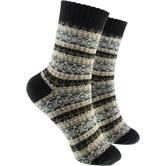 2 Paar Socken in Winter Design schwarz (40 - 45)
