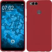 Silicone Case Honor 7x matt red Case