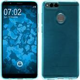 Silicone Case Honor 7x transparent turquoise Case
