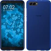 Silikon Hülle Honor View 10 matt blau Case