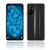 Silicone Case Honor 20 Pro transparent Crystal Clear + protective foils