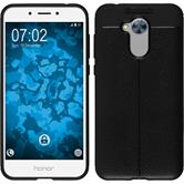 Silicone Case Honor 6a leather optics black Case