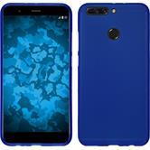 Silicone Case Honor 8 Pro matt blue + protective foils