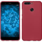 Silicone Case Honor 8 Pro matt red + protective foils