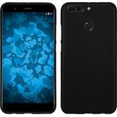 Silicone Case Honor 8 Pro matt black + protective foils