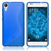 Silicone Case Desire 10 Lifestyle S-Style blue + protective foils