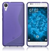 Silicone Case Desire 10 Lifestyle S-Style purple + protective foils