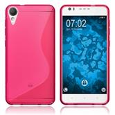 Silicone Case Desire 10 Lifestyle S-Style hot pink + protective foils