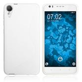 Silicone Case Desire 10 Lifestyle S-Style white + protective foils