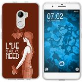 HTC One X10 Silicone Case in Love M3