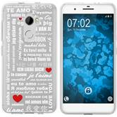 HTC One X10 Silicone Case in Love M5