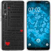 Huawei P20 Pro Silicone Case in Love M4