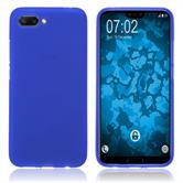 Silikon Hülle Honor 10 matt blau Case