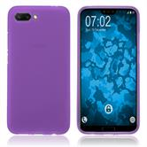Silikon Hülle Honor 10 matt lila Case