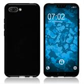 Silikon Hülle Honor 10 transparent schwarz Cover