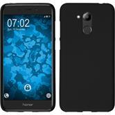 Silikon Hülle Honor 6C Pro matt schwarz Case