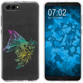 Huawei Honor View 10 Custodia in Silicone floral  M1-4