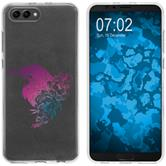 Huawei Honor View 10 Coque en Silicone floral M4-6