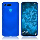 Silicone Case Honor View 20 matt blue Cover