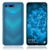 Silicone Case Honor View 20 transparent turquoise Cover