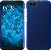 Silikon Hülle Honor View 10 matt blau Case