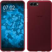 Silikon Hülle Honor View 10 matt rot Case