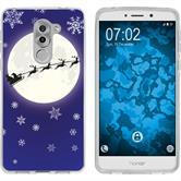 Huawei Honor 6x Silikon-Hülle X Mas Weihnachten  M4