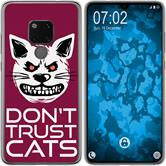 Huawei Mate 20 Silicone Case Crazy Animals M1