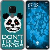 Huawei Mate 20 Silicone Case Crazy Animals Panda M2