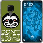 Huawei Mate 20 Silicone Case Crazy Animals sloth M3