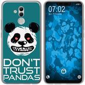 Huawei Mate 20 Lite Silicone Case Crazy Animals Panda M2