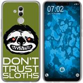 Huawei Mate 20 Lite Silicone Case Crazy Animals sloth M3