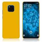 Hardcase Mate 20 Pro rubberized yellow Cover