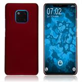 Hardcase Mate 20 Pro rubberized red Cover