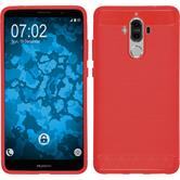 Silicone Case Mate 9 Ultimate red