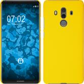 Hardcase Mate 10 Pro rubberized yellow Case