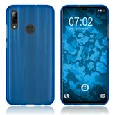 Silicone Case P Smart 2019 matt blue + protective foils