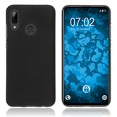 Silicone Case P Smart 2019 matt black + protective foils