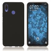 Silikon Hülle P Smart+ matt schwarz Case