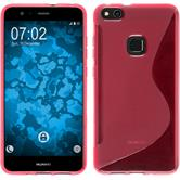 Silicone Case P10 Lite S-Style hot pink + protective foils