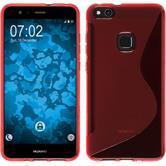 Silikon Hülle P10 Lite S-Style rot + 2 Schutzfolien